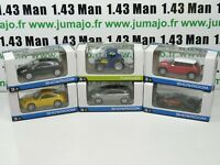 LOT n°13: 6 X 3 inches 1/64 NOREV DS5, Mini, Porsche, tracteur, DS4, concept