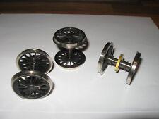 Spur 0 Rivarossi 112160 rare Speichen-Radsätze f. US-Dampflok, 3 Sätze, neu, OVP
