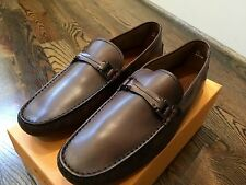 550$ Tod's Dark Brown Cacao Drivers Gommino Size US 12.5 Made In Italy