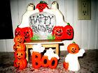 Lot of 4 Vintage Halloween Shaped Candles GHOSTS PUMPKINS Unused