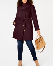 MICHAEL Michael Kors Plus Size Asymmetrical Belted Coat $340 Size 2X # 18A 82 N