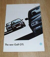 Volkswagen VW Golf Mk3 GTI & GTI 16v Brochure 1992