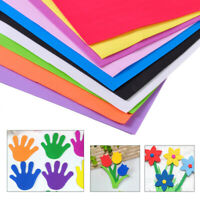 NEW 10Pcs Multicolor A4 Sponge EVA Foam Papers Sheets Kids Handmade DIY Craft