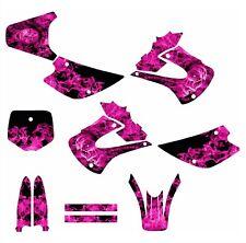 2001 - 2013 KX85 KX100 graphics kit for Kawasaki #9700 Pink Zombie Girl