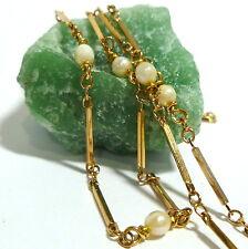 8K 333er Cadena Collar Cadena de Oro oro Collar de perlas 7,20 Gr 62 cm