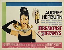 "Breakfast at Tiffany's (1961) Audrey Hepburn Movie Silk Fabric Poster 24""x32"""