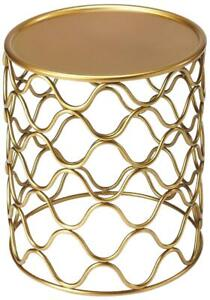 ACCENT TABLE ANTIQUE GOLD DISTRESSED IRON BRONZE