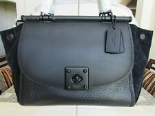 Coach 38389 Drifter Carryall In Mixed Leathers Black 04018709 $595