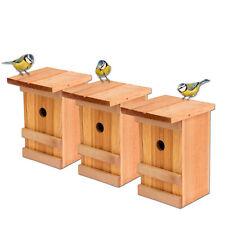 3er Set Nistkästen Vogelhaus Holz für Vögel Meisenkasten Vogelhäuschen hängend