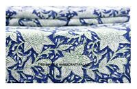 3 Yard Indian Hand Block Printed Fabric Quilting Paisley Fabric 100% Pure Cotton