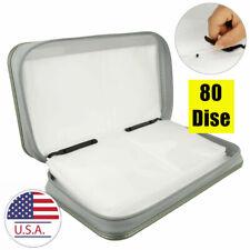 White Portable Wallet Storage Box Organizer Case Bag Album Holder 80 Disc CD DVD