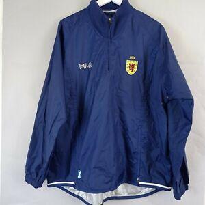 Vintage Fila Scotland Football National Team Training Rain Track Jacket Size L