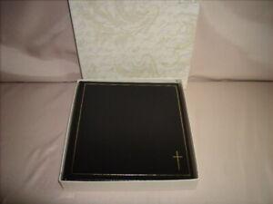 C.R. Gibson Black Heritage Cross Libromount Photo Album with Box P22C0V