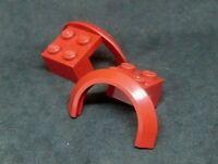 Lego Bracket 2x2 with Wheel Arch, Tall [50745] Dark Red x2