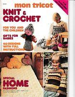 Mon Tricot Knit & Crochet Magazine February 1977 No. 40