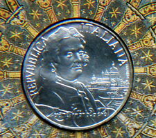1997 Italy 5000£ rare silver coins CANALETTO UNC/BU in official folder