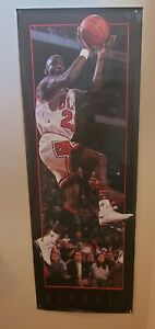 "Rare 1993 Costacos Michael Jordan Bulls Door Poster 27"" x 74"" Vintage Classic"