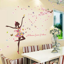 DIY Room Home Mural Decor Flower & Girl Removable Wall Art Sticker Vinyl Decal