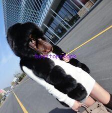 Women Short Fox Fur Coat New Arrive Hooded Warm Winter Vest Jacket Parka Clothes