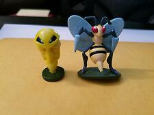 100% Authentic Takara Tomy Auldey Pokemon Kakuna & Beedrill PVC Figure Lot USA