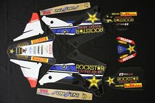YAMAHA YZF 250-450 2006-2007 ROCKSTAR  FLU MX GRAPHICS KIT STICKER KIT STICKERS