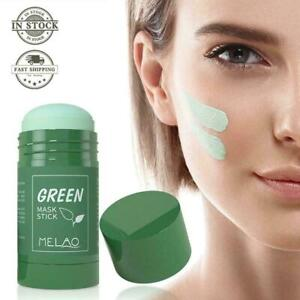 Green Tea Purifying Clay Stick Mask Anti-Acne Deep cleansing Control Oil T0Y5