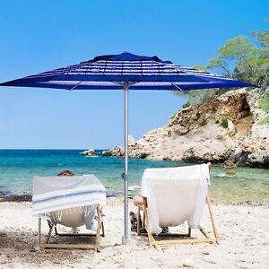 8ft Commercial Grade Beach Umbrella Sand Anchor Air- Vent & Carry Bag Non Tilt