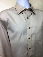 L.L.Bean Shirt Men's MT Medium Tall Off White Button Down Long Sleeve Wrinkle