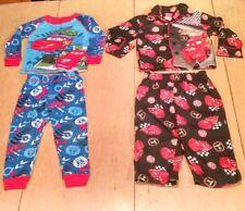 Disney - Lightning McQueen - Boys Pajamas/Sleepwear Bundle. 2 Two PcSets. Size2T