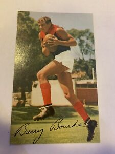 1965 Mobil card No 6 Barry Bourke Melbourne Good Condition