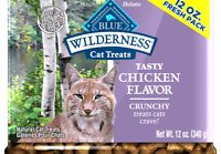 Blue Buffalo Wilderness Grain Free Crunchy Cat Treats Chicken 12 oz