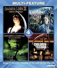 Blu Ray CHILDREN OF THE CORN 3, 4, 5 & 666. 4 movies. Region free. New sealed.