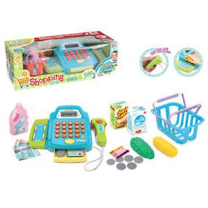 Supermarket Till Kids Cash Register Toy Gift Child Boys Shop Role Playsets tools