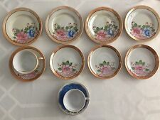 """VTG Lot 11 """"Made In Occupied Japan"""" Mini Dishes~2 Tea Cups /5 saucers /4 plates"""