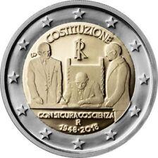 ITALIA 2 EURO 2018 - CONM. 70 ANIV. CONSTITUCION - SIN CIRCULAR -