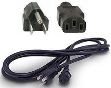 Lot3pk/pcs 8ft 16awg long AC Standard Power Cord/Cable/Wire C13~NEMA5-15P 13Amp