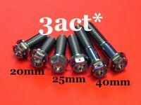 2 pcs - M8 x 20,25,40mm Titanium/Ti Flange Hex Bolt Race Spec Wire Hole