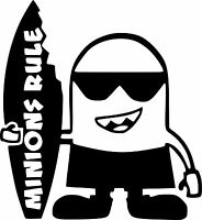MINION surf VW JDM Car stickers decal vinyl window car laptop, bikes scooter 20