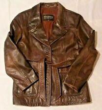 Lg.Wilson Leather Women's Brown 100% genuine fashion jacket Wilson's coat 69426