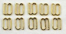 accessori-reggiseno GANCETTI 10 mm metallo goldf. 10 ST