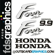 Honda 9.9hp 4 stroke outboard engine decals/sticker kit