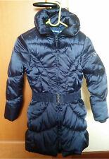 Piumino raso blu bimba 6 anni - O.M. + giacchino bianco pellicciotto nuovo
