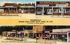 Black Hills  South Dakota Rockerville Gold Town Antique Postcard J40321