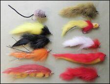 Misto luccio pesca Mosche, 10 confezioni 1/0 & 2/0, Ganci forte, consegna veloce