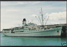 Shipping Postcard - M.V.Doulos (O.M Ship) Visiting Auckland, New Zealand A8112