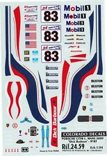 #83 Dick Barbour Porsche GT3-R 2000 1/24th - 1/25th Scale Waterslide Decals