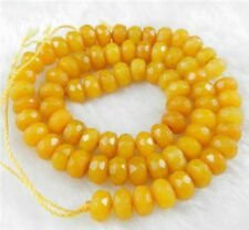 5x8mm Natural Faceted Yellow Topaz Abacus Gemstones Loose Beads 15""