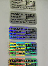 "500 CUSTOMIZED SVAG .75"" x 1.5"" Hologram Security Label Sticker Seals Tamper Ev"