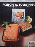PUBLICITÉ DE PRESSE 1978 POISSONS AU FOUR DE FINDUS SAUCE AURORE - ADVERTISING