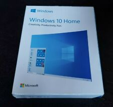 Microsoft Windows 10 Home Full Retail Version 32 and 64 Bit Operating System